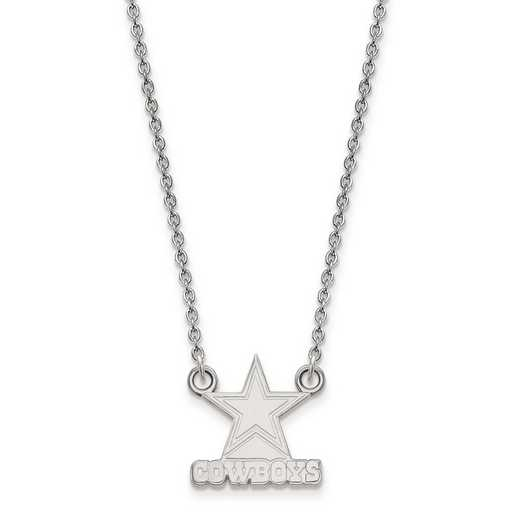 SS011COW-18: 925 Dallas Cowboys Pendant Necklace