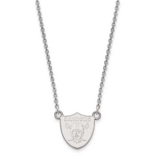 SS011RAI-18: 925 Oakland Raiders Pendant Necklace