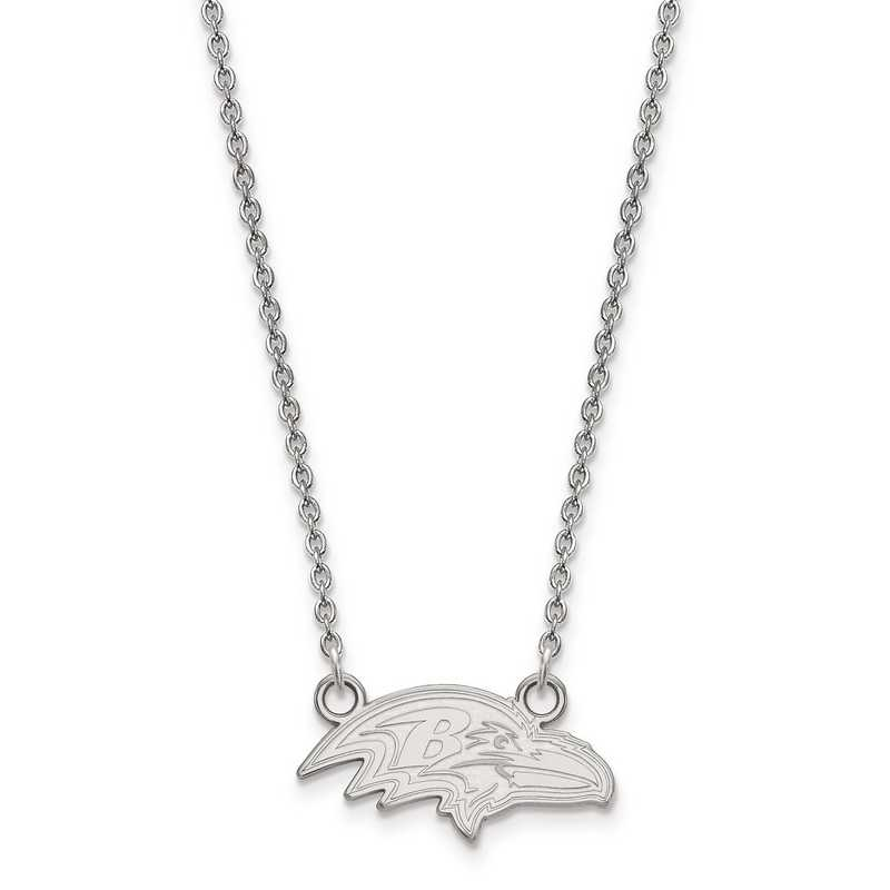 SS011RAV-18: 925 Baltimore Ravens Pendant Necklace