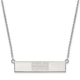 SS016BRW-18: 925 Cleveland Browns Bar Necklace