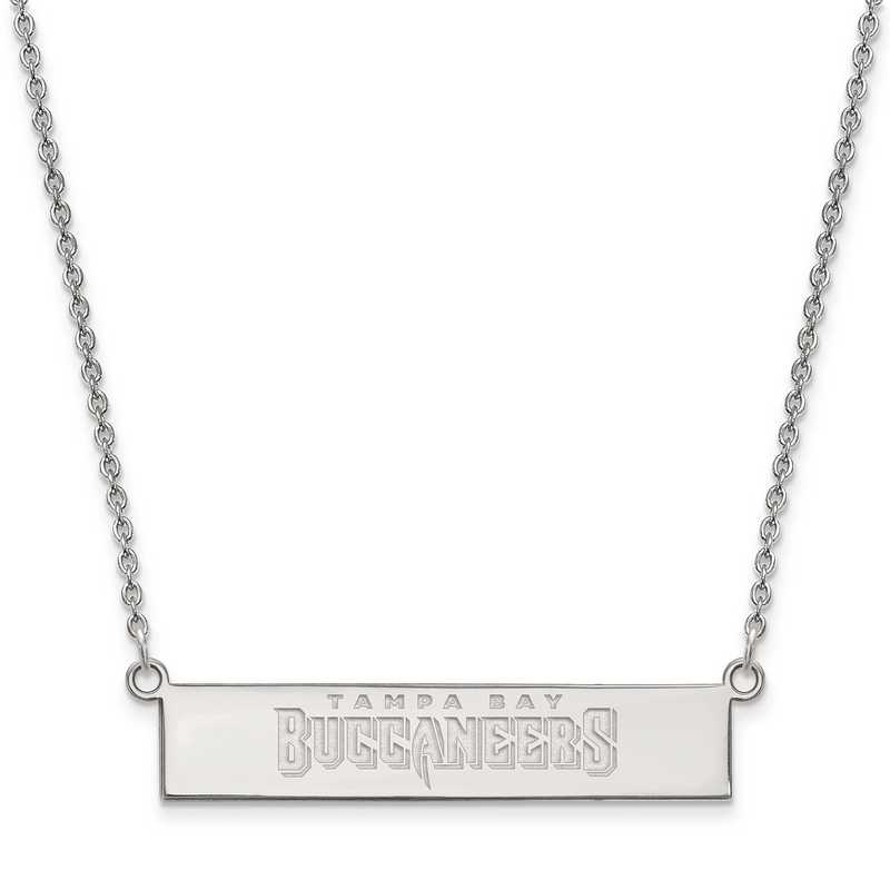 SS016BUC-18: 925 Tampa Bay Buccaneers Bar Necklace