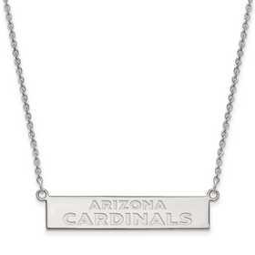 SS016CAR-18: 925 Arizona Cardinals Bar Necklace