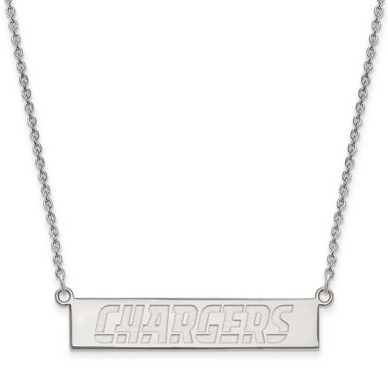 SS016CHA-18: 925 Los Angeles Chargers Bar Necklace