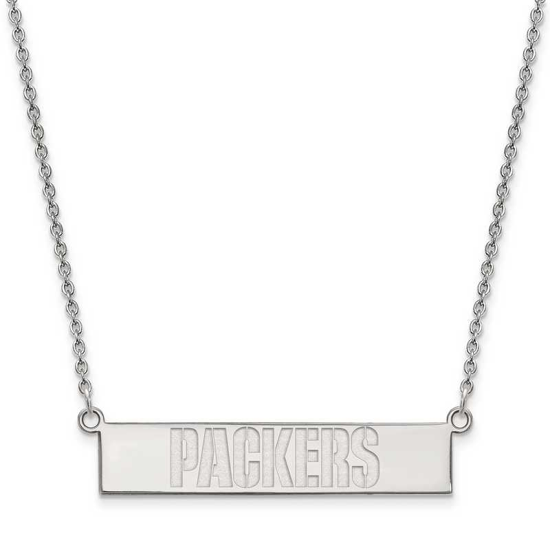 SS016PAC-18: 925 Green Bay Packers Bar Necklace