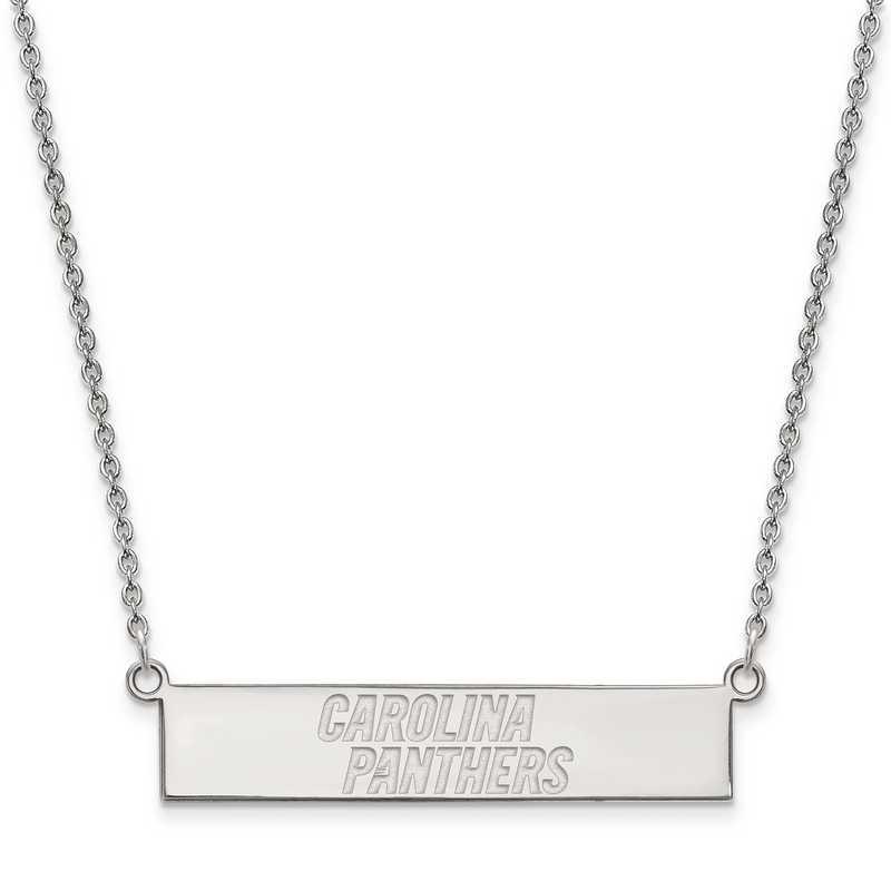 SS016PAN-18: 925 Carolina Panthers Bar Necklace