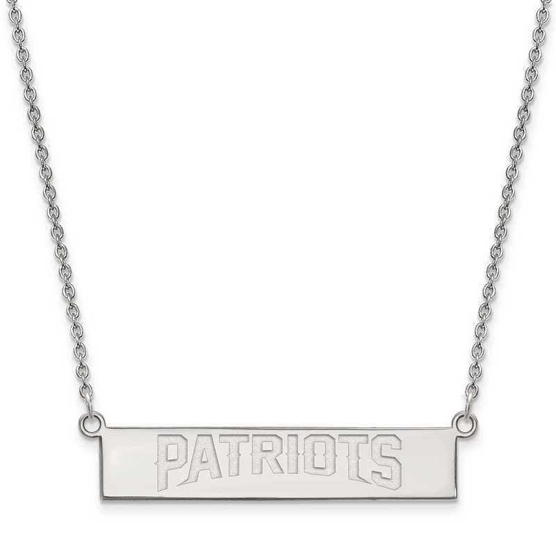 SS016PAT-18: 925 New England Patriots Bar Necklace