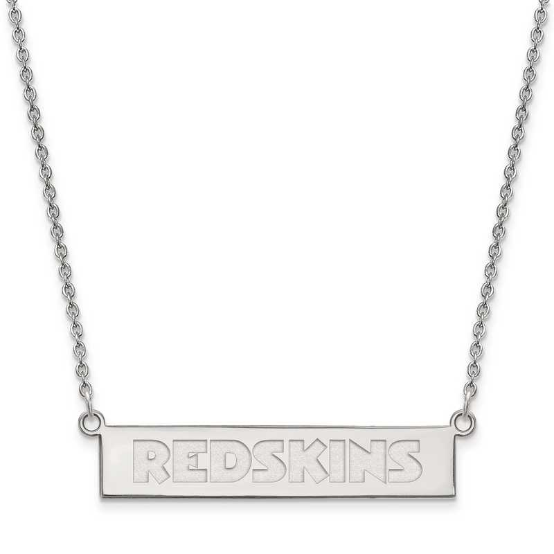 SS016RED-18: 925 Washington Redskins Bar Necklace