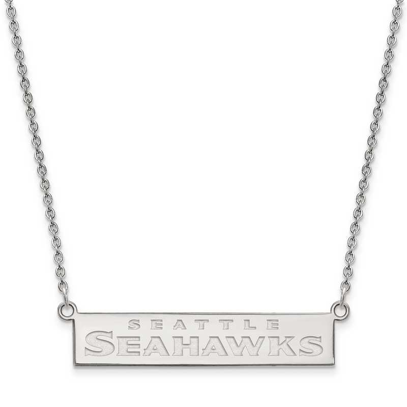 SS016SEA-18: 925 Seattle Seahawks Bar Necklace