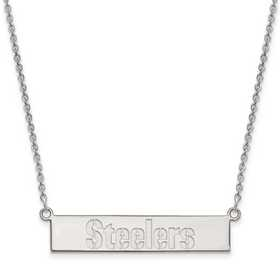 SS016STE-18: 925 Pittsburgh Steelers Bar Necklace