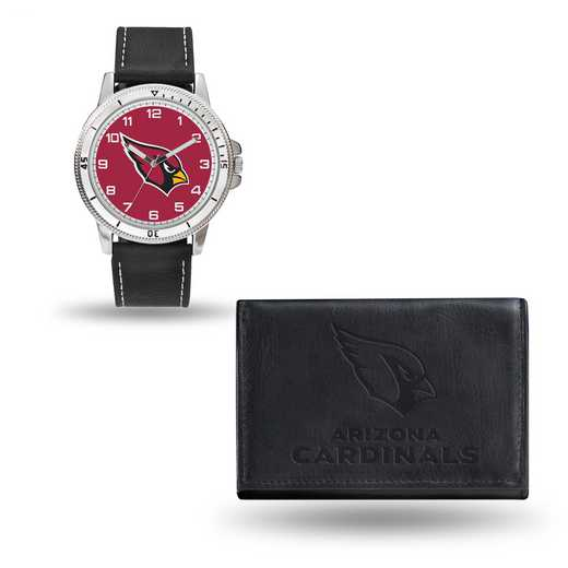 GC4814: Men's NFL Watch/Wallet Set - Arizona Cardinals - Black