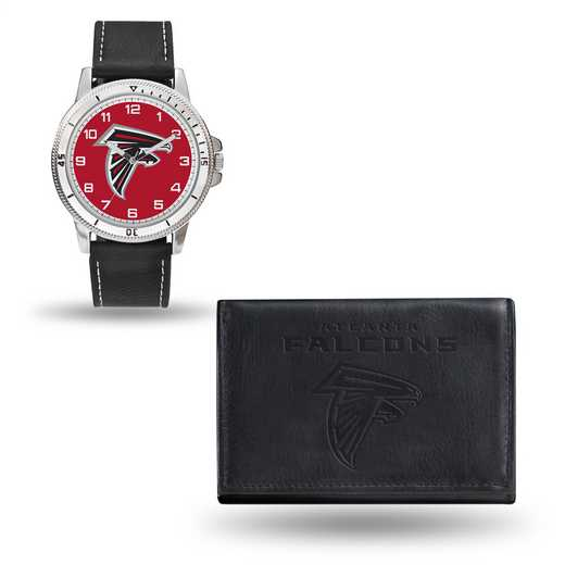 GC4815: Men's NFL Watch/Wallet Set - Atlanta Falcons - Black