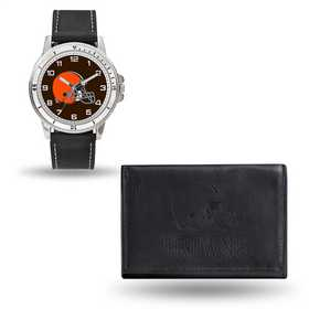 GC4821: Men's NFL Watch/Wallet Set - Cleveland Browns - Black