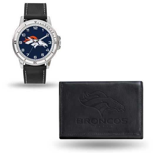 GC4823: Men's NFL Watch/Wallet Set - Denver Broncos - Black