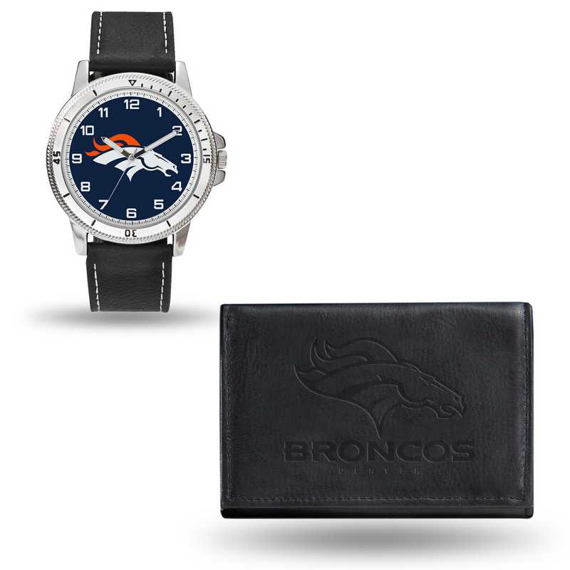 GC4823: Men's NFL Watch/Wallet Set - Denver Broncos - Black
