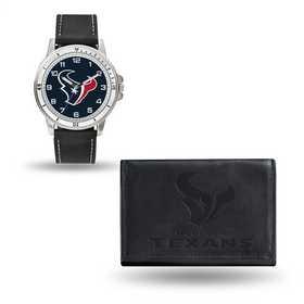 GC4826: Men's NFL Watch/Wallet Set - Houston Texans - Black