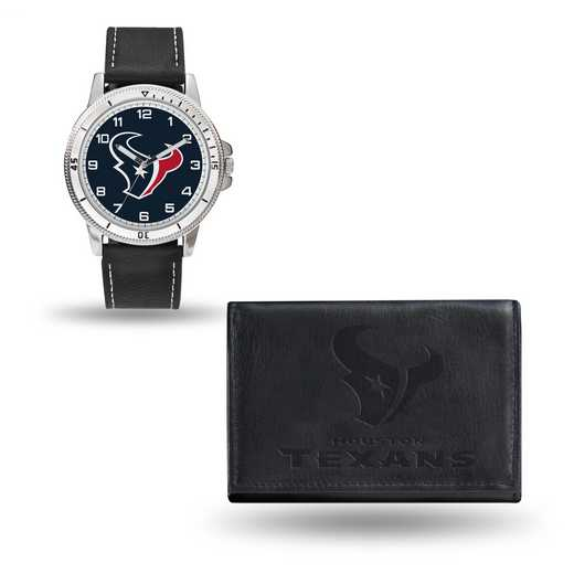 GC4826: Men's NFL Watch/Wallet Set - Houston Texans - Black