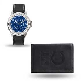GC4827: Men's NFL Watch/Wallet Set - Indianapolis Colts - Black