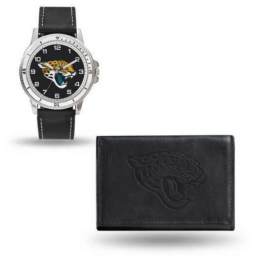 GC4828: Men's NFL Watch/Wallet Set - Jacksonville Jaguars - Black
