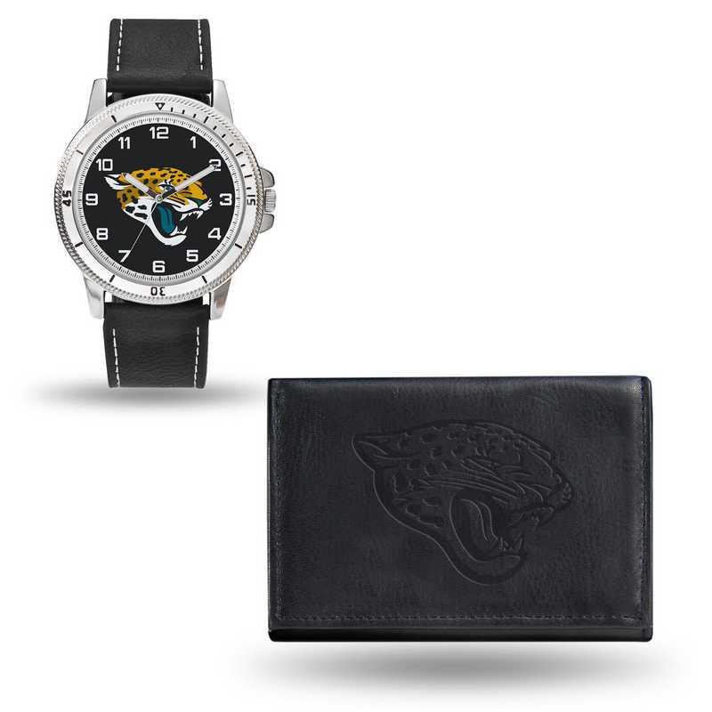 GC4828: Men's NFL Watch/Wallet Set - Jacksonville Jaguars - Black