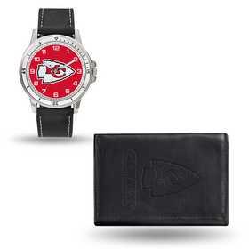 GC4829: Men's NFL Watch/Wallet Set - Kansas City Chiefs - Black