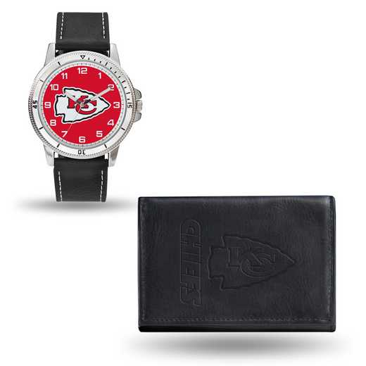 GC4829: Men's NFL Watch/Wallet Set - Kansas City Chiefs - Black