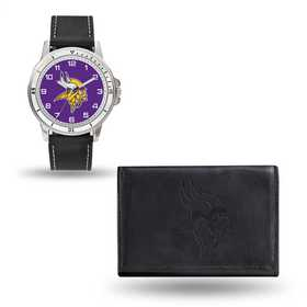 GC4831: Men's NFL Watch/Wallet Set - Minnesota Vikings - Black