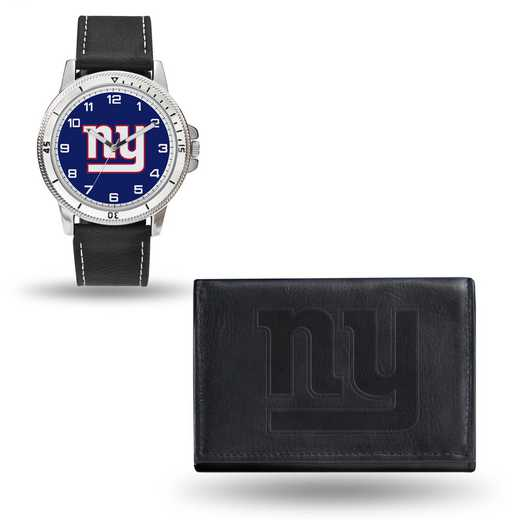 GC4834: Men's NFL Watch/Wallet Set - New York Giants - Black