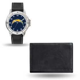 GC4839: Men's NFL Watch/Wallet Set - San Diego Chargers - Black