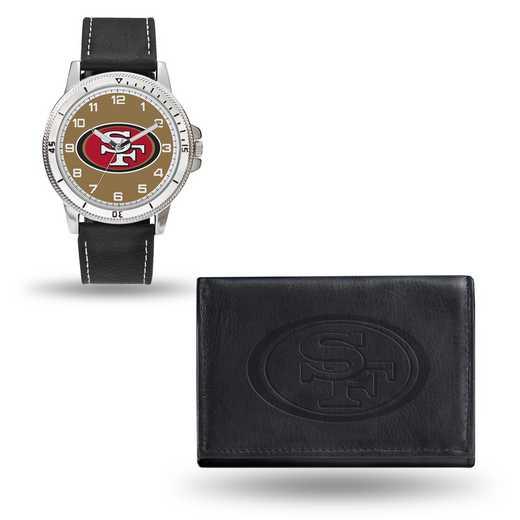 GC4841: Men's NFL Watch/Wallet Set - San Francisco 49ers - Black