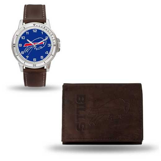 GC4849: Men's NFL Watch/Wallet Set - Buffalo Bills - Brown