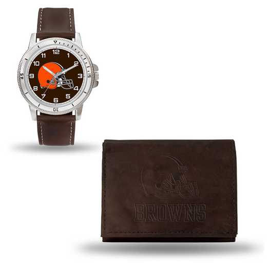 GC4853: Men's NFL Watch/Wallet Set - Cleveland Browns - Brown