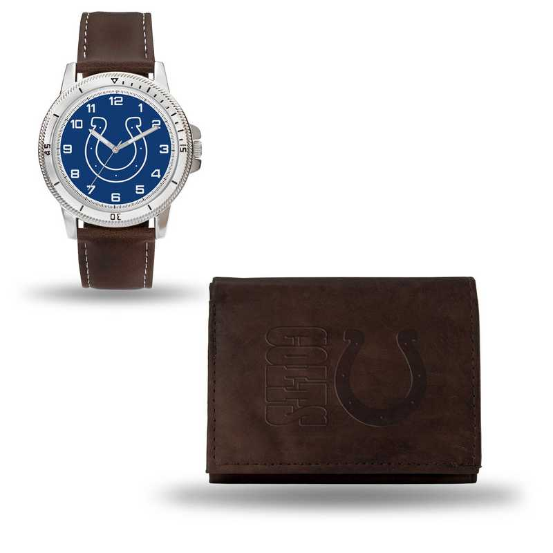 GC4859: Men's NFL Watch/Wallet Set - Indianapolis Colts - Brown