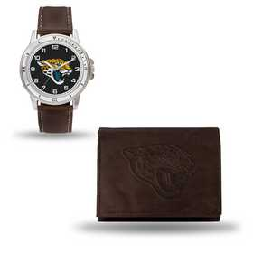GC4860: Men's NFL Watch/Wallet Set - Jacksonville Jaguars - Brown