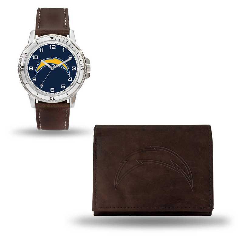 GC4871: Men's NFL Watch/Wallet Set - San Diego Chargers - Brown