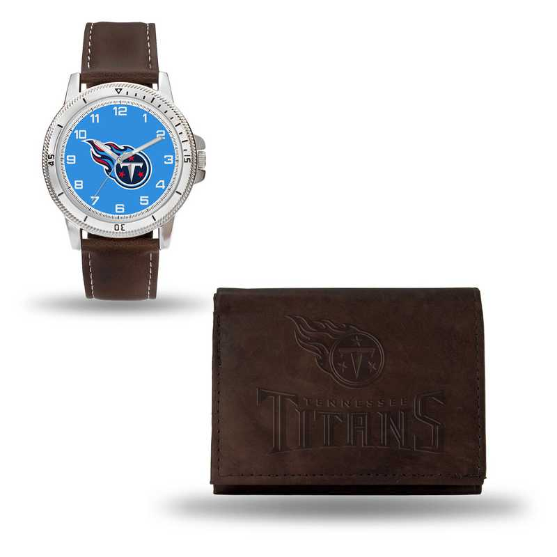 GC4876: Men's NFL Watch/Wallet Set - Tennessee Titans - Brown