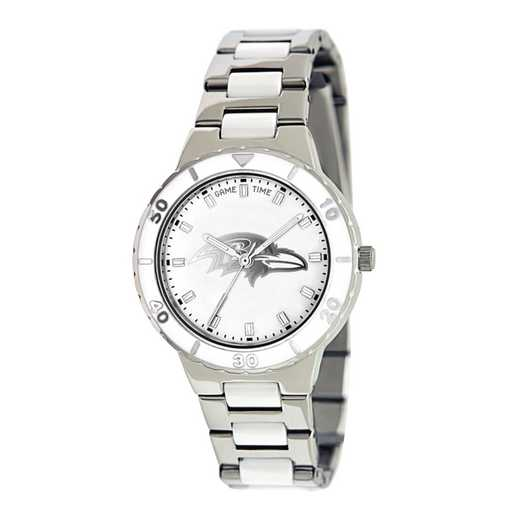 XWL745: Ladies NFL Baltimore Ravens Mother of Pearl Watch