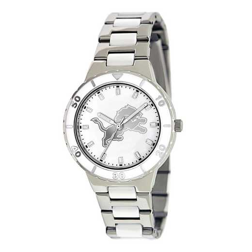XWL753: Ladies NFL Detroit Lions Mother of Pearl Watch