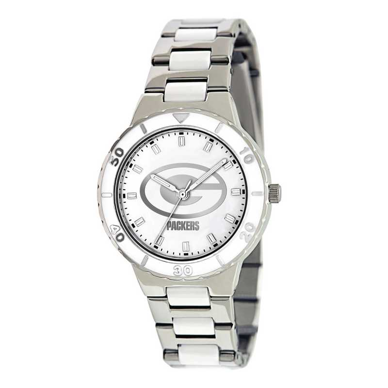 XWL754: Ladies NFL Green Bay Packers Mother of Pearl Watch