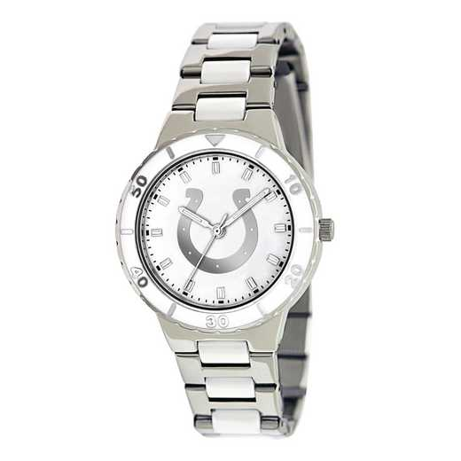 XWL756: Ladies NFL Indianapolis Colts Mother of Pearl Watch