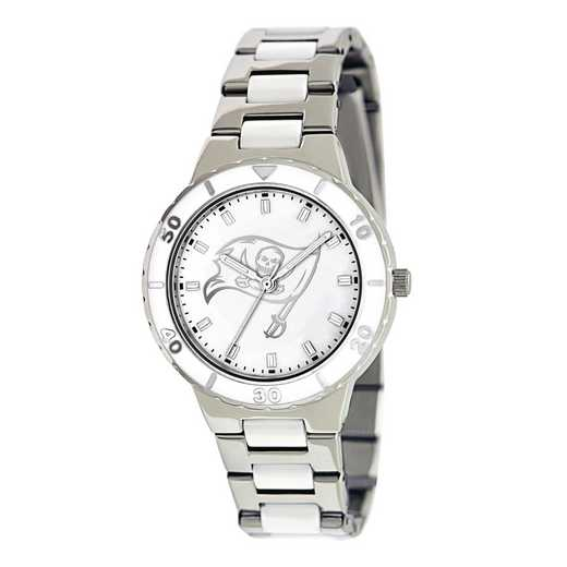 XWL772: Ladies NFL Tampa Bay Buccaneers Mother of Pearl Watch