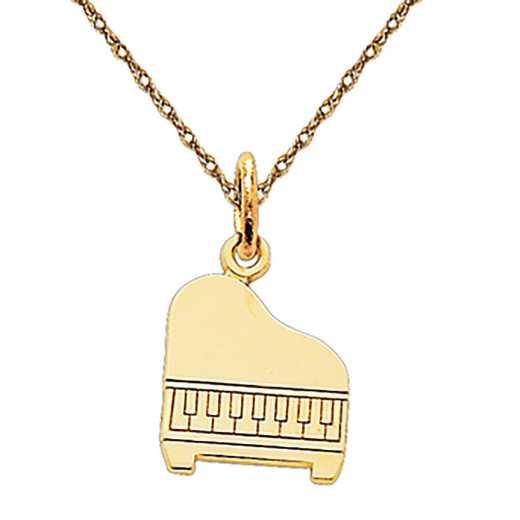 C1792/5RY-18: 14k YG Piano Charm