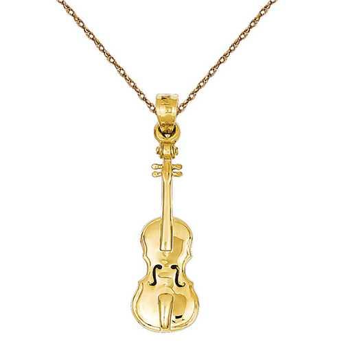 C412/5RY-18: 14k YG Violin Charm