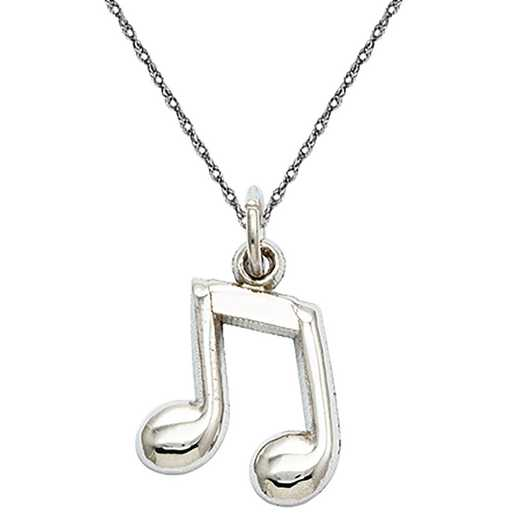 D1255/5RW-18: 14k WG Polished Musical Note Charm