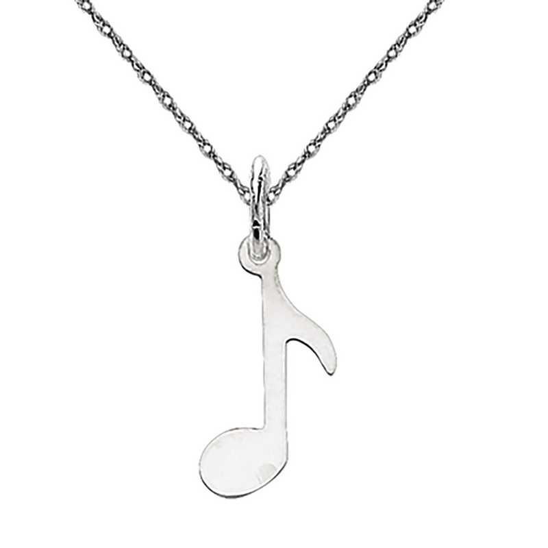 XAC928/5RW-18: 14k WG Polished Musical Note Charm