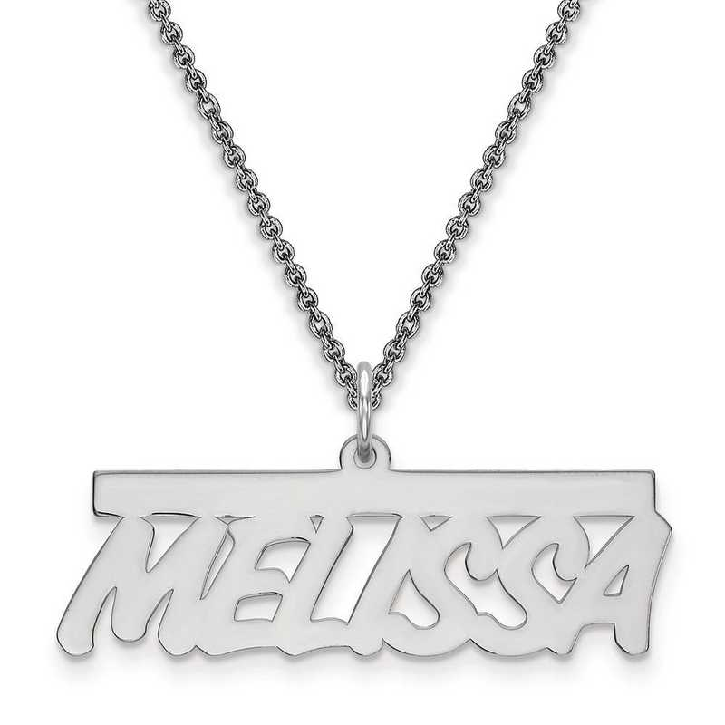 10XNA78W: 10 Karat White Gold .013 Gauge Polished Name Plate -  2