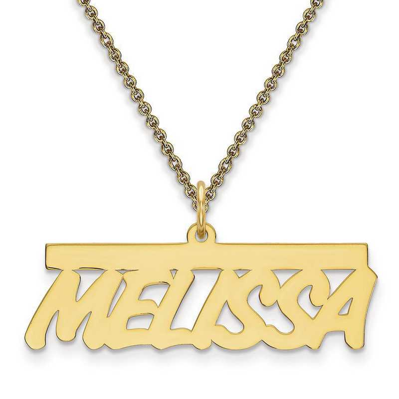 10XNA78Y: 10 Karat Yellow Gold .013 Gauge Polished Name Plate -  2