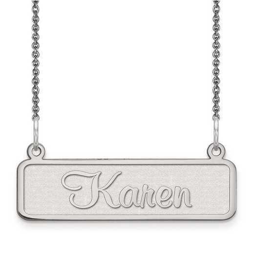 10XNA82W: 10 Karat White Gold Satin Name Plate -  3
