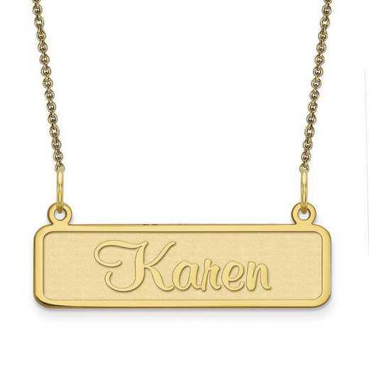 10XNA82Y: 10 Karat Yellow Gold Satin Name Plate
