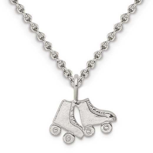 QC2790-QCL050-18: Sterling Silver Roller Skates Charm