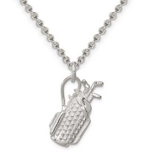 QC749-QCL050-18: Sterling Silver Golf Bag Charm